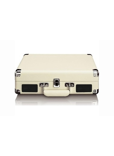 Lenco Classic Phono TT-11 Beyaz Hoparlörlü Bluetoothlu Retro Pikap Plak Çalar Renkli